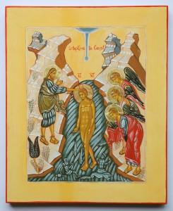 icône du baptême du christ