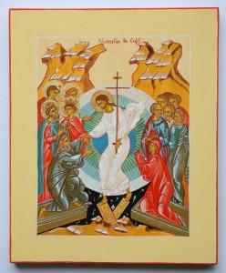 icône de la résurrection du Christ