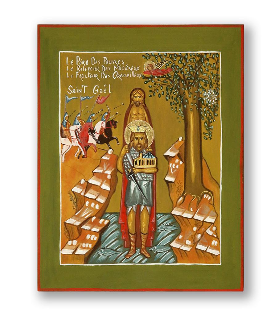 Gael Atelier icône de saint gaël - atelier d'iconographie saint thomas atelier d